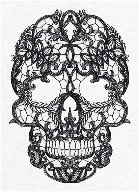 Lacy Skull   Urban Threads: Unique and Awesome Embroidery