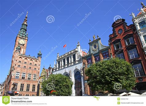 Old Town Hall In City Of Gdansk, Poland Stock Photo