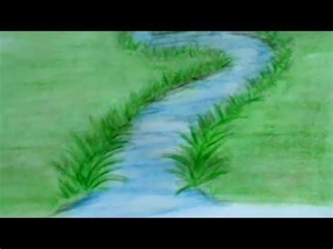 How To Draw A River With Colored Pencils: Lesson 3 - YouTube