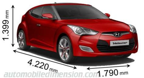 Dimensions of Hyundai cars showing length, width and height