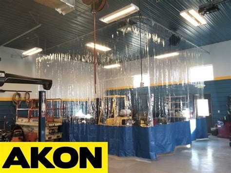 Clear Industrial Curtains – Akon – Curtain and Dividers