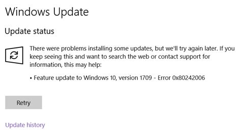 Solved: Feature update to windows 10 version 2004 failed