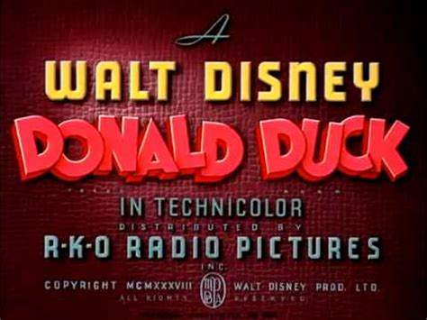 """Donald Duck - """"Good Scouts"""" (1938) - recreation titles"""