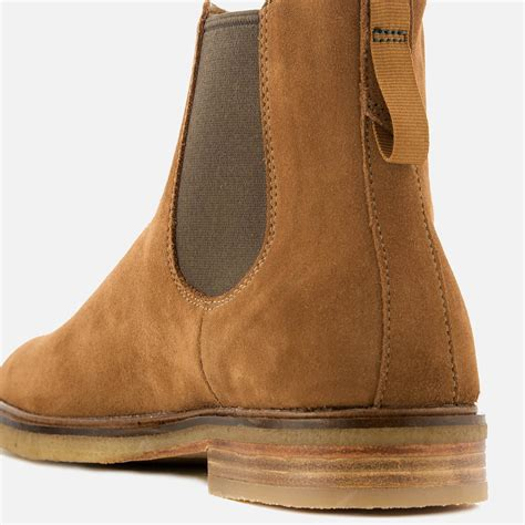 Clarks Clarkdale Gobi Suede Chelsea Boots in Tan (Brown