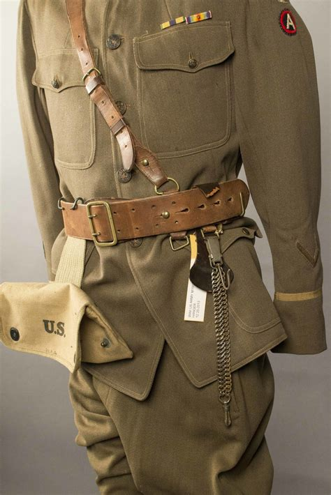 US WWI Officer's Uniform, Enlisted Greatcoat, Painted
