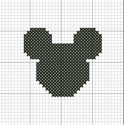 Mickey Silhouette by VickitoriaEmbroidery on deviantart