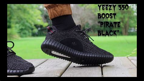 """Yeezy 350 Boost """"Pirate Black"""" Review w/ On-Feet - YouTube"""