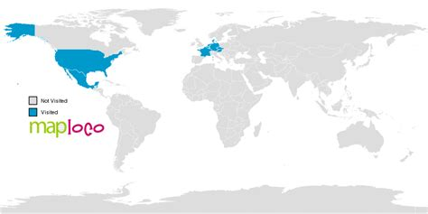 Visited Countries Map - Create a Map of all the countries