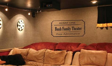 Wall Decal home theater movie ticket 000