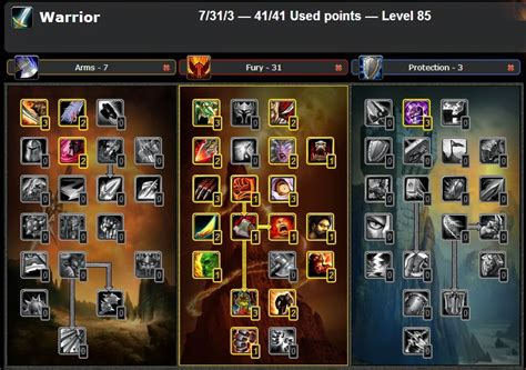 PVP FURY WARRIOR TALENT & GLYPHS GUIDE WOW CATACLYSM 4