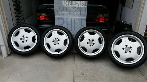"""17"""" staggered Monoblocks AMG rims & tires from c43 AMG"""