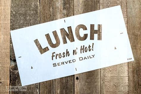Lunch by Funky Junk's Old Sign Stencils