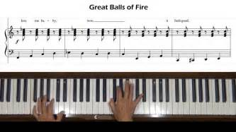 Great Balls of Fire (Jerry Lee Lewis) Piano Tutorial - YouTube