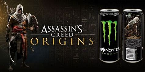Assassin's Creed Origins partner up with Monster Energy to