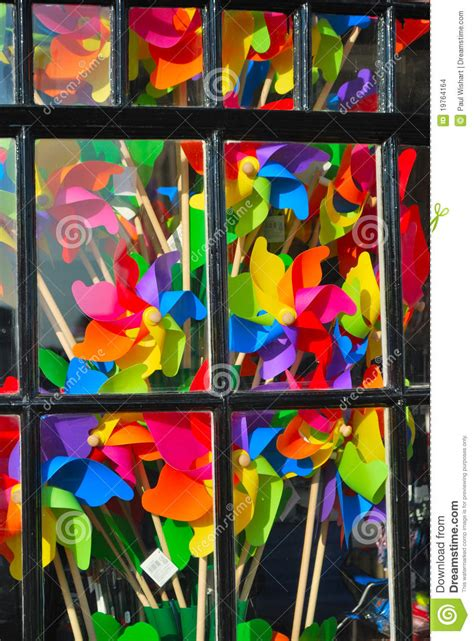 Bright Colorful Window Display Stock Images - Image: 19764164