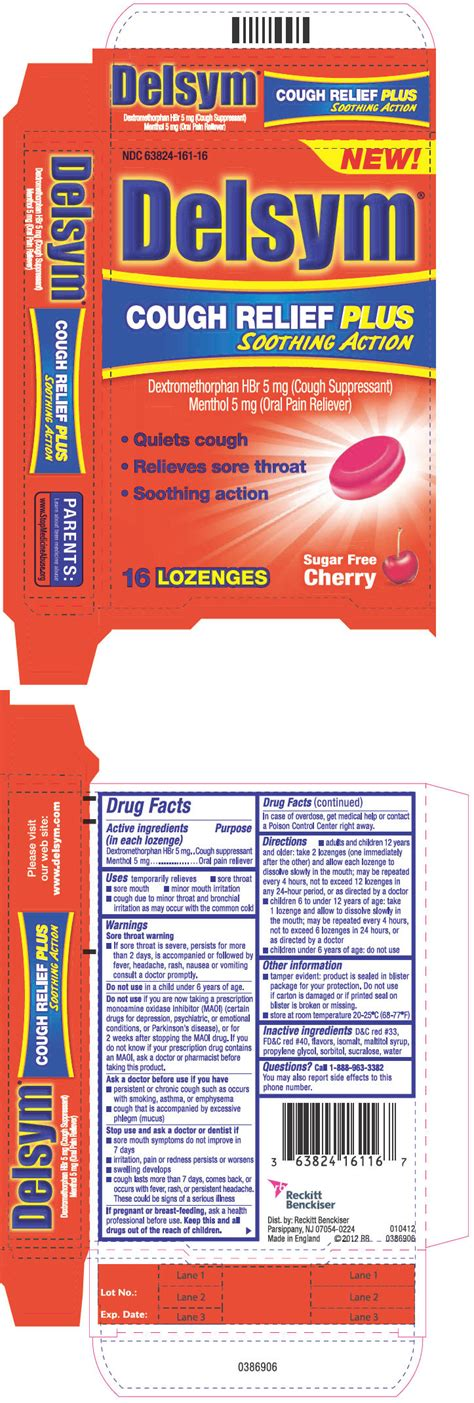 Delsym Cough Relief Plus Soothing Action (lozenge) Reckitt