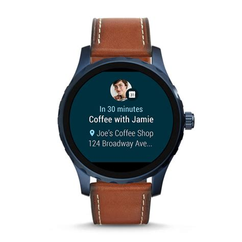 Gen 2 Smartwatch - Q Marshal Brown Leather - Fossil