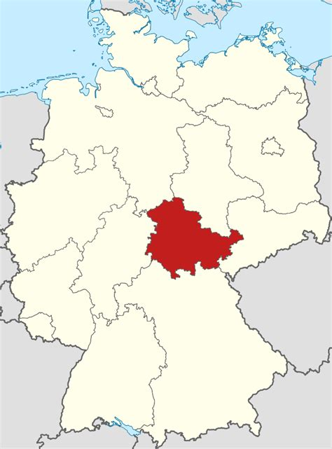 File:Locator map Thuringia in Germany